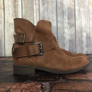 Steve Madden Short Brown Leather Boots